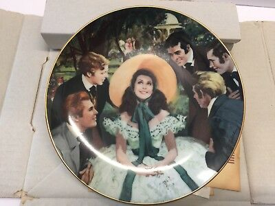 W.S. George Gone With The Wind Collectors Plate Scarlett And Her Suitors