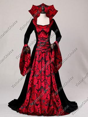 Medieval Renaissance Queen Guinevere Red Gown Game Of Thrones Theater Wear R402