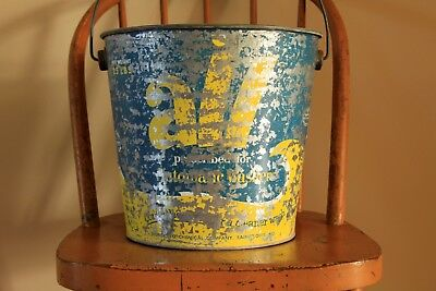 Vintage ALL Laundry Soap Galvanized Metal Bucket Laundry Room Decor Advertising
