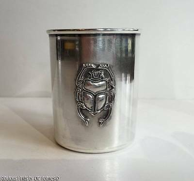 Vintage Cairo Egyptian .900 Silver Wine Cup w/ Scarab Shot Glass