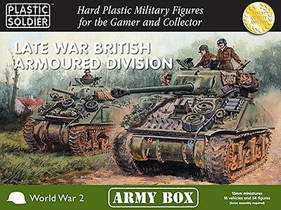 Plastic Soldier Company WW2 Late War British Armoured Division 15mm Scale