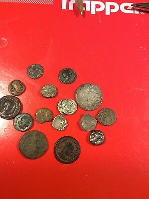large Lot of ancient silver bronze Roman Syrian Greek