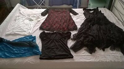 Bundle Women's Clothes, Size 18-20, Gothic Boho Black Lace, Red,True Blood,Gypsy