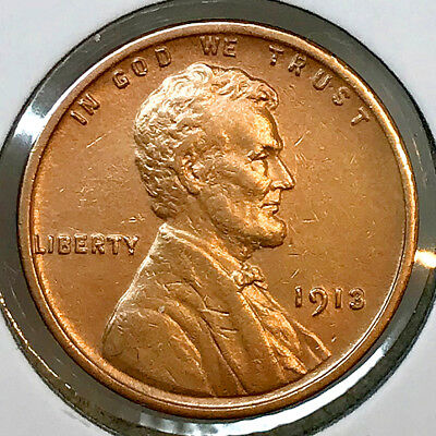 1913 P Lincoln Wheat Cent - AU / Almost Uncirculated