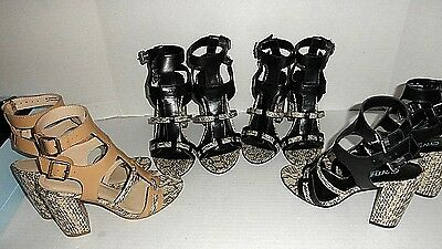 $436 WHOLESALE LOT 4 Womens Designer Leather Dress Heel Sandals shoes : Lot #2