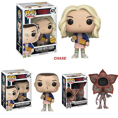 Funko POP TV Stranger Things Eleven with Eggos Chase In Wig Vinyl Action Figure