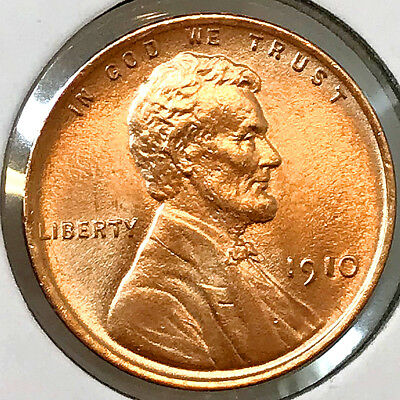 Superb - 1910 P Lincoln Wheat Cent - Gem BU / MS RD / UNC - High Grade Coin