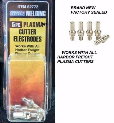 (2x) NEW PACK OF 5 Harbor Freight Plasma Cutter Electrode CHICAGO ELECTRIC 62772