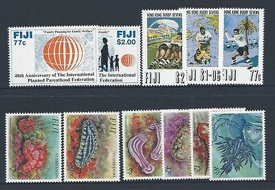 1993 Fiji 3x sets (11 stamps) Mint Hinged