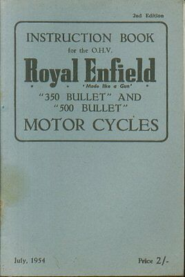 ROYAL ENFIELD 350cc & 500cc OHV BULLET ( 1946 - 1957 ) OWNERS INSTRUCTION MANUAL