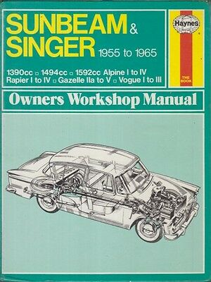 Sunbeam Alpine 2-Seater Series I Ii Iii Iv 1959-65 Repair Manual *hardback Vgc*