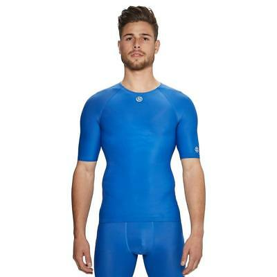New Skins Dnamic Team Sh Slv Top Sports Compression Clothing Blue