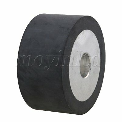 10 x 5cm Belt Grinder Rubber Wheel Aluminum Core Black