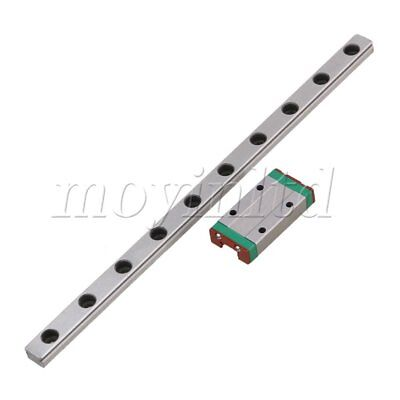 20cm MGN9 Extended Bearing Linear Sliding Guide Rails & Block Set Silver