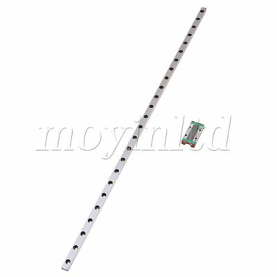 50cm Extended Bearing Linear MGN9 Sliding Guide Rails & Block Set Silver