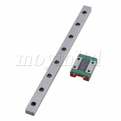 20cm MGN12 Precise Linear Guide Rail Sliding Rail+Block Set Silver