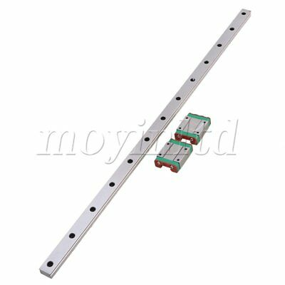 50cm Length Bearing Steel MGN15 Linear Sliding Guide & 2 Extension Block