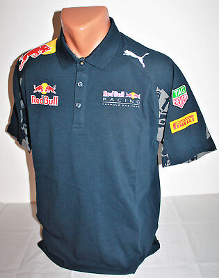 Puma Red Bull Racing Polo Shirt Herren Men Sport Energy Drink Gr. M NEU OVP