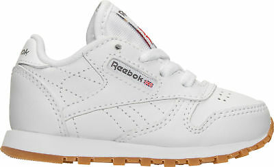 518a8afc9d9 KIDS  TODDLER REEBOK Classic Leather Casual Shoes White Gum V69626 ...