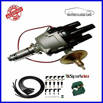 MGB AccuSpark 25d Electronic distributor + Custom Sparkrite  Leads  + FREE TOOL