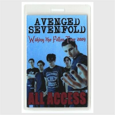 Avenged Sevenfold authentic 2004 Laminated Backstage Pass Waking the Fallen Tour
