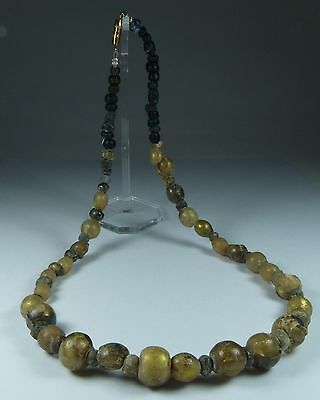 Beautiful Ancient Roman Glass Bead Necklace 2Nd Ad