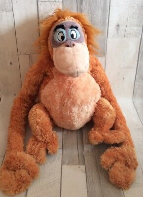 "Large 18"" Disney Store King Louis Jungle Book Super Soft Plush Toy Velcro Hands"