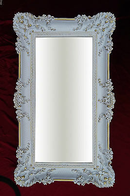 Wall Mirror White Gold 96x57 Antique Baroque Shabby Chic Floor Vanity