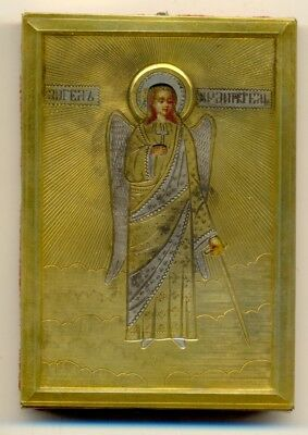 Antique Russian Icon Sterling Silver  gold plated  (№1549a)