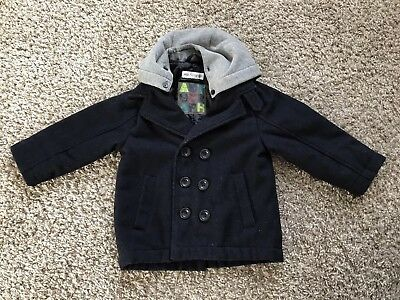 M&S Autograph Boys Navy Winter Coat, 18-24 months