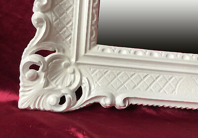 Wall Mirror White Antique Baroque Rococo 90x70 cm Decoration Bathroom REPRO