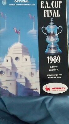 1989 Fa Cup Final Programme: Everton V Liverpool