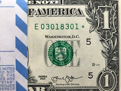 2013 STAR NOTE $1 Dollar * RICHMOND *, GEM,Low Number ,Uncirculated