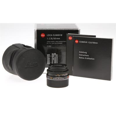 Leica ELMAR-M 50mm f/2.8 Collapsible Black Finish Lens for M System 11831
