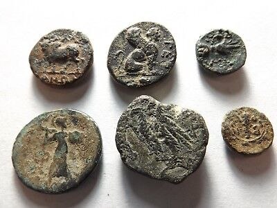 Lot of 6 Ancient Greek Coins: 20.2 Grams!