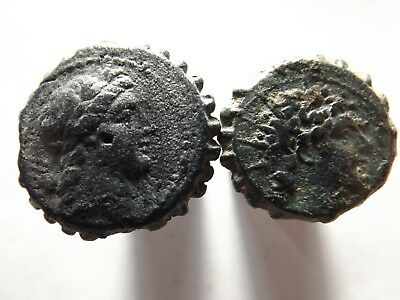 Lot of 2 Higher Quality Ancient Greek Coins:Seleucid-Tripod,Elephant,20.2 Grams!
