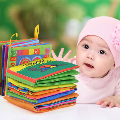 US Stock Intelligence Development Cloth Bed Cognize Book Educational Toy for Kid