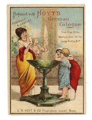 HOYT'S GERMAN COLOGNE, Victorian Trade Card, 287, Lowell, Massachusetts