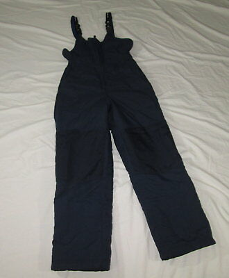 LL Bean Kids Youth Unisex Ski Snow Snowboard Bibs Pants Size 12 Blue Insulated