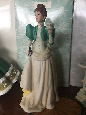 Avon 1995 Mrs Albee Victorian Lady Figurine NIB for home interior decorating or