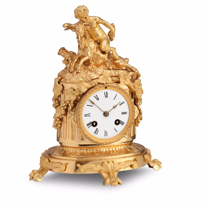 Absolutely Stunning French 19th C Gilt Ormolu Mantle Clock