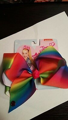 JOJO SIWA RAINBOW SIGNATURE HAIR BOW DANCE CHEERLEADER New Large