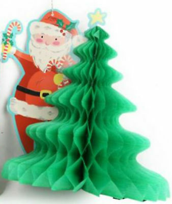 "14"" honeycomb 3D xmas christmas tree decoration traditional vintage retro style"