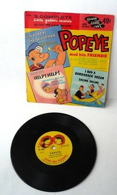1970  Popeye And His Friends, Little Golden Record, Golden 3 on 1 Records KFS