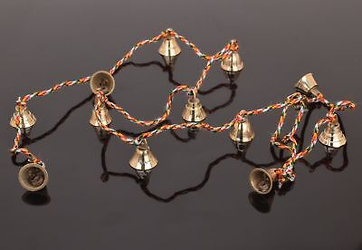 """Amazing Chime with Twelve Copper Finish Brass Bells on 37"""" Long String"""