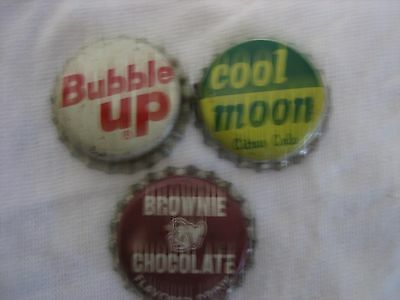Vintage Bottle Caps Brownie, Bubble Up,cool Moon
