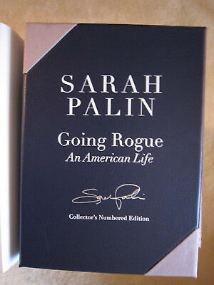 Sarah Palin Autographed Going Rogue Book Collector's Numbered Edition #4296!