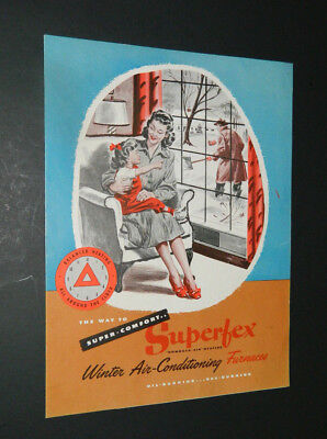 Vintage Superfex Winter Air Conditioning Furnaces Brochure