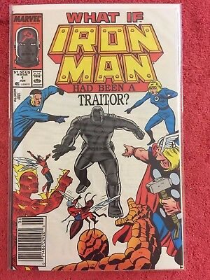 What If Special 1 Marvel Lot of 1 1988 VF+ Iron Man a Traitor Gillis Ditko