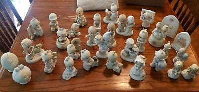 Lot of 32 Precious Moments Figurines